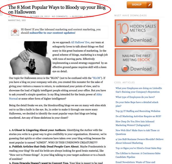 best blog titles