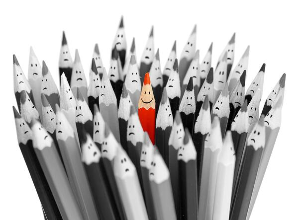 standing out in a crowd