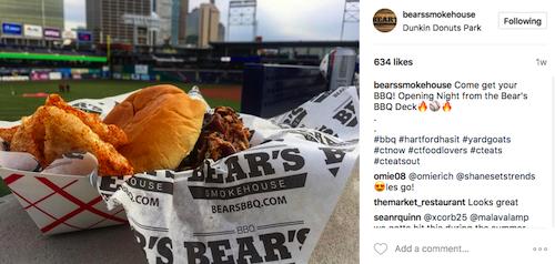 Instagram Marketing CT, Bears Smokehouse